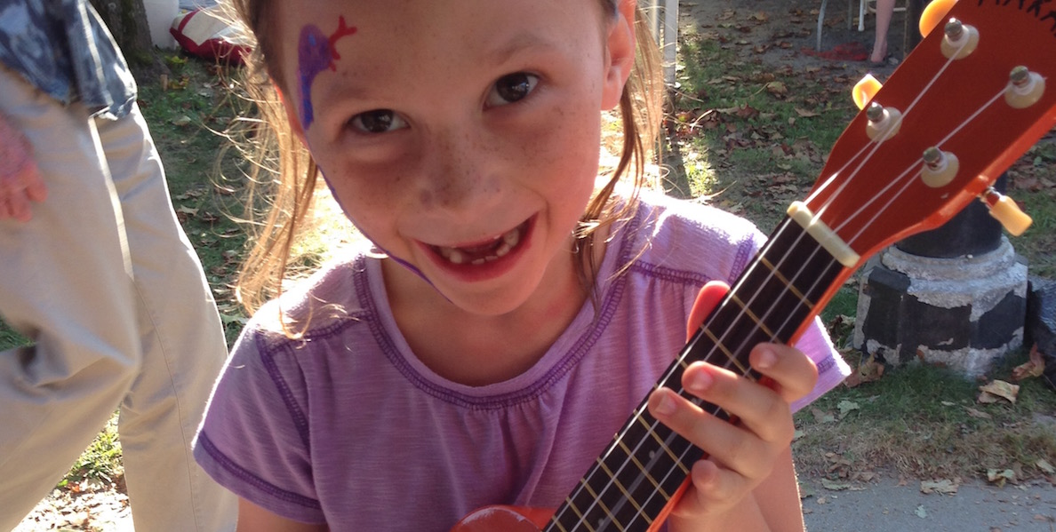 Instrument Petting Zoo with Addison White and others at the Vermont International Festival