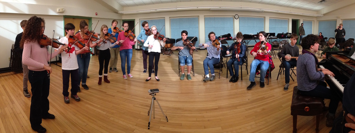 Young Tradition Touring Group rehearsal